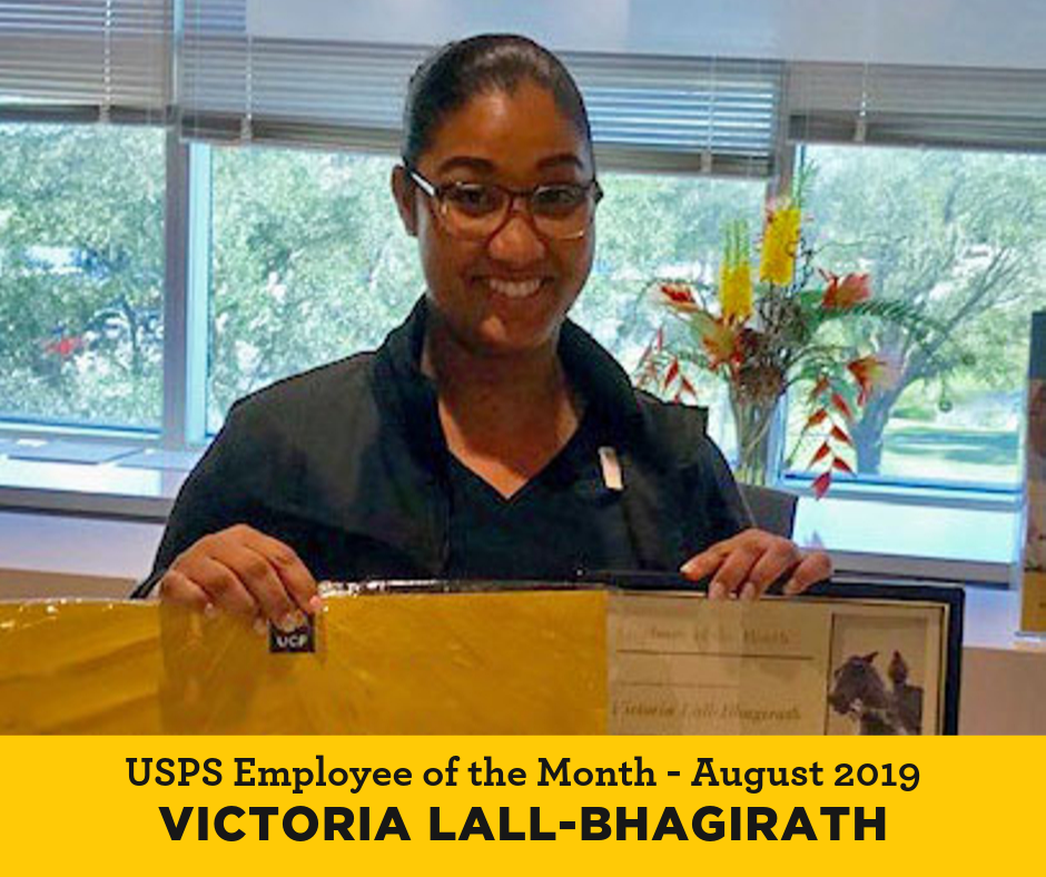 Victoria Lall Bhagirath Employee of the Month at UCF