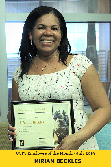Miriam Beckles Employee of the Month July 2019 UCF